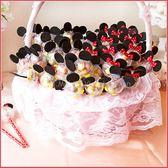 米奇米妮五彩球餅乾棒X100支+大提籃X1個-情人節聖誕節 生日分享 慶生 婚禮小物 禮贈品