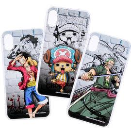 海賊王正版授權透明軟殼 城牆系列 5.8吋 iPhone X 航海王 手機套/手機殼/保護套 魯夫/喬巴/索隆