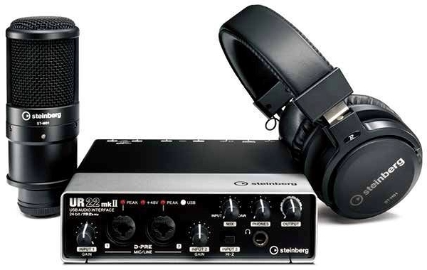 凱傑樂器  Steinberg UR22 MKII Recording Pack USB 電腦錄音介面套組