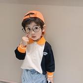 男童T恤男童polo衫洋氣兒童套頭上衣裝韓版男寶寶撞色長袖t恤