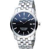 TITONI Master Series 天文台認證機械腕錶 83188S-577 黑色
