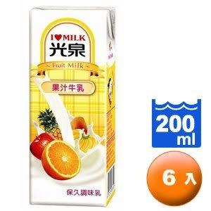 光泉 保久調味乳-果汁牛乳 200ml (6入)/組