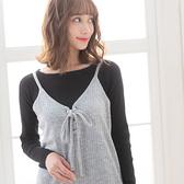 東京著衣【夢展望】細肩帶後綁式針織連身裙-M(4190015)