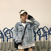 2019秋裝新款韓版復古女牛仔外套原宿風短款寬鬆bf牛仔衣夾學生女