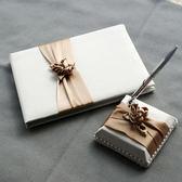 年終享好禮 『紅盒子』婚慶用品香檳金婚禮簽名本簽到冊簽到筆結婚用品