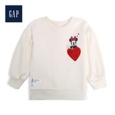 Gap女嬰兒甜美迪士尼印花圓領上衣525930-象牙白