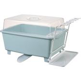 瀝水架 廚房放碗櫃塑料帶蓋瀝水架家用碗架裝碗筷收納箱收納盒碗碟置物架