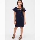 Gap女童民族風格刺繡連衣裙540348-海軍藍色