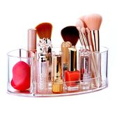 化妝刷收納筒梳妝台彩妝眉筆粉刷收納盒塑料透明多功能筆筒名片盒   遇見生活