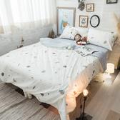 【預購】童話星球 K2雙人King Size床包薄被套四件組 純精梳棉 台灣製