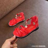公主鞋新款韓版女童羅馬涼鞋高幫兒童沙灘鞋平底小公主寶寶鞋子 童趣潮品