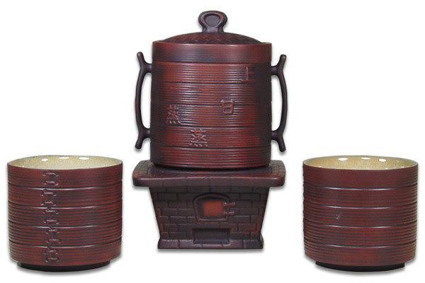 鹿港窯~意象玄機紫砂茶具組系列【蒸蒸日上】免運費送到家