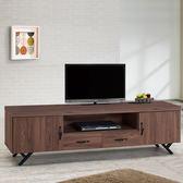 Homelike 愛爾6尺電視櫃-胡桃-免組裝