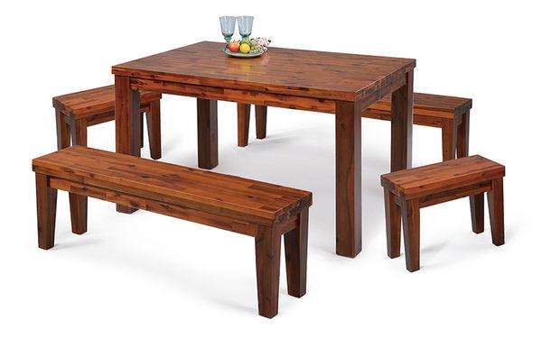 【森可家居】相思木2尺全實木板椅凳 7SB342-10 拼接木紋