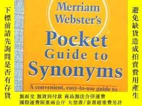 二手書博民逛書店Merriam-Webster s罕見Pocket Guide to Synonyms (Pocket Refer