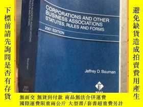 二手書博民逛書店英文書罕見corporations and other business associations statute