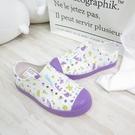 Native JEFFERSON PRINT CHIL中童鞋 洞洞鞋 131001018968 紫【iSport愛運動】