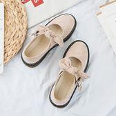 娃娃鞋 女正韓原宿復古日系圓頭小皮鞋
