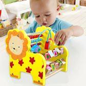 一歲寶寶益智力繞珠串珠玩具 8個月嬰兒童積木 1-2-3周歲男孩女孩 js2828『科炫3C』