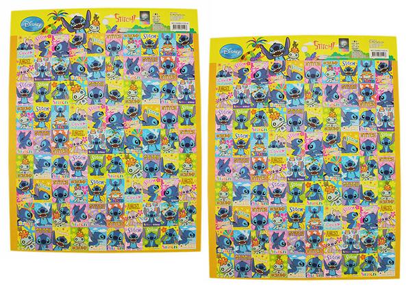 【卡漫城】 Stitch 貼紙 2入一組 ㊣版 獎勵 長方形 貼紙 星際寶貝 醜ㄚ頭 史迪奇 女朋友