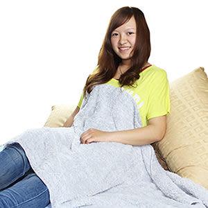 【源之氣】竹炭超細纖維柔軟居家/靜坐毛毯 (75*150cm) RM-10366