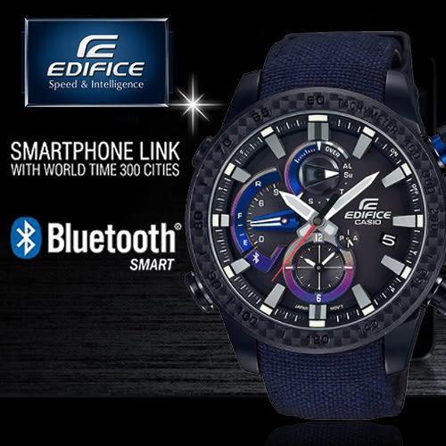 【人文行旅】【公司貨】EDIFICE EQB-800TR-1A 高科技藍牙智慧錶款 太陽能 EQB-800TR-1ADR