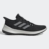 Adidas SENSEBOUNCE+ 女鞋 慢跑 襪套 避震 針織 透氣 輕量 黑 灰【運動世界】 G27384