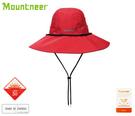 丹大戶外【Mountneer】山林休閒 中性款 透氣抗UV大盤帽 圓頂帽/防曬帽/遮陽帽/休閒帽 11H10-37 紅色