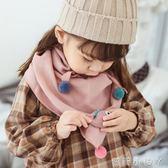 兒童圍巾兒童三角巾潮秋冬季寶寶男童女童棉圍脖羊絨小孩女孩 蘿莉小腳ㄚ