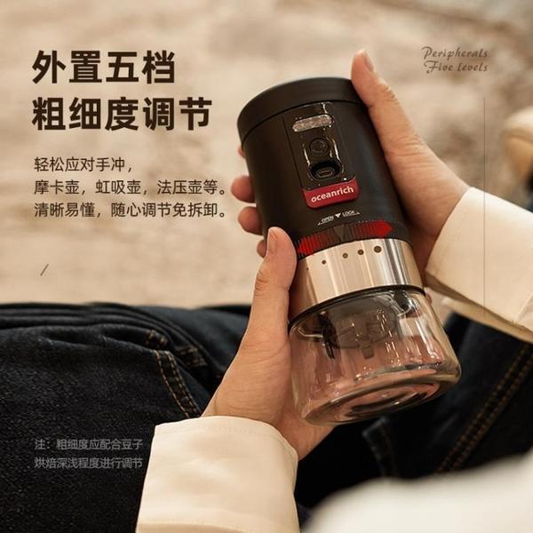 咖啡機 歐新力奇磨豆機電動咖啡豆研磨機家用小型全自動磨粉器 星河光年DF