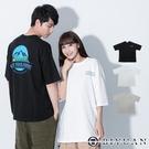 韓國製【OBIYUAN】寬鬆短T 情侶款上衣 藍色山脈 OVERSIZE 短袖t恤 3色【F10016】