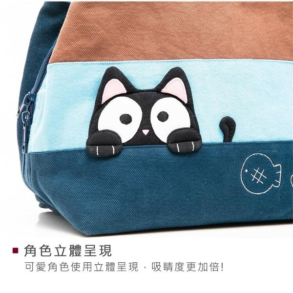 Kiro貓‧ 小黑貓三層拼布包 外出收納/手提小方包【211348】