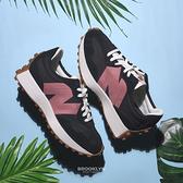NEW BALANCE 休閒鞋 NB327 黑 紅LOGO 復古 拼接 女 (布魯克林) WS327HR1