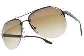 PRADA 太陽眼鏡SPS52V 7CQ-1X1 (槍綠-漸層棕鏡片) 半框造型飛行款 # 金橘眼鏡