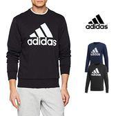 【GT】Adidas 黑藍 衛衣 大學T 運動 休閒 素色 長袖 上衣 愛迪達 基本款 Logo