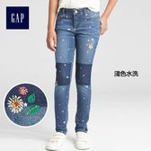 Gap x Sarah Jessica Parker女童 中腰緊身牛仔褲 336117-淺色水洗