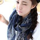 披肩 圍巾青花瓷 絲巾 (5色)【Ann梨花安】