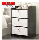 簡易床頭櫃簡約現代仿實木小櫃子迷你宿舍臥室床邊儲物櫃組裝YYS     易家樂
