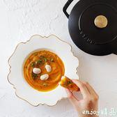 餐盤一年四季春暖花開的小清新9寸湯盤  enjoy精品