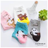 Catworld 杯緣動物棉質長襪【18900118】‧F