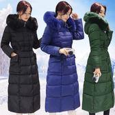 羽绒外套 冬季新品羽絨棉服超長款加厚棉衣大衣