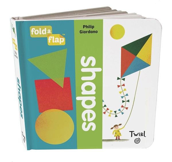 【幼兒藝術形狀認知書】FOLD FLAP : SHAPES / 硬頁翻翻書