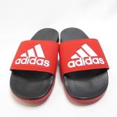 ADIDAS ADILETTE COMFOR 拖鞋 記憶鞋墊 F34722 黑紅 男女款【iSport愛運動】