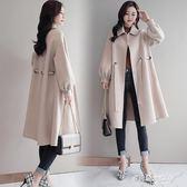 呢子外套昵子外套女寬鬆顯瘦毛呢子大衣中長款新款韓版秋冬款端莊大氣YYS