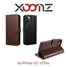 【愛瘋潮】 XOOMZ 格蘭錢包 iPhone 12 / 12 Pro 6.1 磁扣側掀 手工皮套 手機殼 側掀皮套 可插卡 可站立
