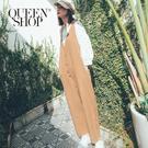 Queen Shop【04050615】休閒感排釦設計無袖連身褲 兩色售*現+預*