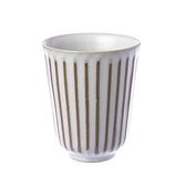 日式樸石陶瓷手握杯 白十草 170ml
