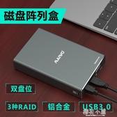 麥沃K25272 2.5 USB3.0雙盤位移動硬盤盒帶RAID陣列『櫻花小屋』
