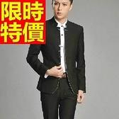 中山裝-合身剪裁復古立領中國風男西裝外套2色65e33【時尚巴黎】