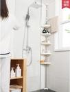 頂天立地浴室置物架三角形免打孔廁所馬桶轉角架落地衛生間收納架 小明同學
